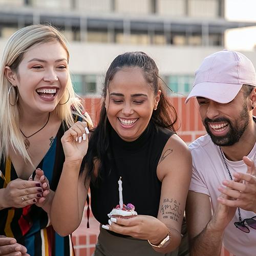 Originele feestjes met vrienden en familie